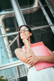 Pensive business woman Stock Images