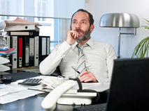 Pensive businessman Stock Photos