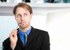 Pensive businessman Stock Image