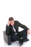 Pensive businessman Royalty Free Stock Photography