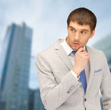 Pensive businessman Stock Images