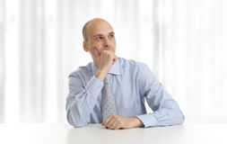Pensive businessman Stock Photo