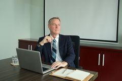 Pensive businessman Royalty Free Stock Images
