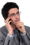 A pensive businessman Royalty Free Stock Photos
