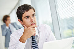 Pensive businessman Royalty Free Stock Photos