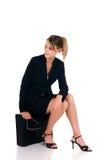 Pensive businesswoman Stock Image