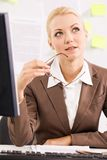 Pensive businesswoman Stock Photos