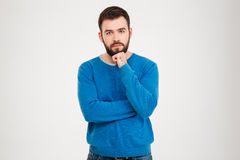 Pensive casual man Stock Photography