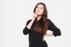 Pensive casual woman Stock Photos