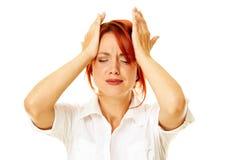 Pensive caucasian woman Stock Image
