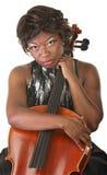 Pensive Cello Performer Stock Photos