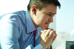 Pensive ceo Stock Images