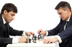 Pensive chessmen Royalty Free Stock Photo