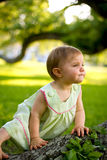 Pensive child Royalty Free Stock Image