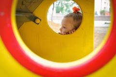 Pensive child on playground Royalty Free Stock Photo