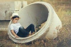 Pensive child Stock Photos