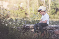 Pensive child Royalty Free Stock Photo