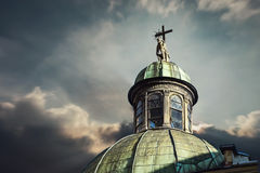 Pensive Christ on the dome of Boim Chapel in Lviv, Ukraine Royalty Free Stock Photo