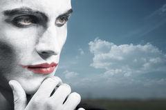 Pensive clown Royalty Free Stock Photos