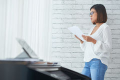 Pensive composer Stock Images