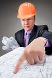 Pensive contractor Royalty Free Stock Photos