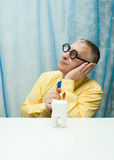 Pensive dentist Stock Photography