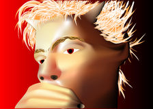 Pensive devil Stock Photo
