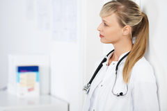 Pensive doctor Royalty Free Stock Photo