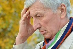 Pensive elderly man Royalty Free Stock Photo