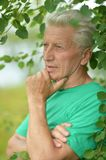Pensive elderly man Stock Image