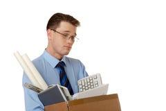 Pensive employee Royalty Free Stock Image