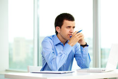 Pensive employer Stock Photos