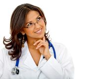 Pensive female doctor Royalty Free Stock Photo