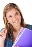 Pensive female student Royalty Free Stock Photos