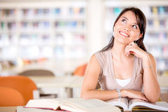 Pensive female student Royalty Free Stock Photography