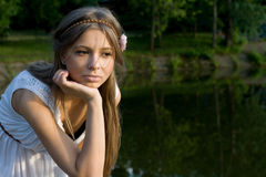 Pensive Girl Royalty Free Stock Photos