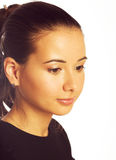 Pensive girl Royalty Free Stock Images
