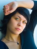 The pensive girl. Look Royalty Free Stock Photography