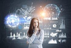 Free Pensive Girl Analyzing Data Royalty Free Stock Photo - 93624435