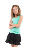 Pensive girl with arms crossed Royalty Free Stock Photography