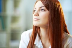 Pensive girl Royalty Free Stock Image