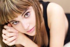 Pensive girl portrait Stock Photography