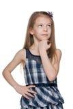 Pensive girl Stock Photos