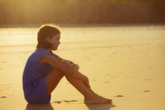 Pensive girl Stock Images
