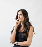 Pensive gorgeous woman looking away. Stock Photos