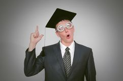 Graduate student. royalty free stock photos