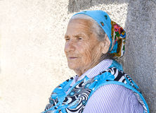 Pensive Grandmother Royalty Free Stock Images