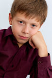 Pensive handsome boy Royalty Free Stock Images