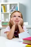 Pensive kid Royalty Free Stock Images
