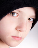 Pensive Kid. Cute child with a pensive look close up Royalty Free Stock Photos